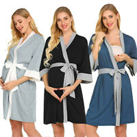 Fashion Maternity Nursing Robe Delivery Nightgowns Hospital Breastfeeding Gown
