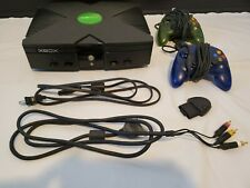 Original Microsoft Xbox Console With Controllers And Cords - Tested & Works