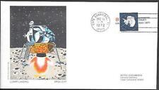 "US Space Cover 1972. ""Apollo 17"" LM Moon Landing. Astro Doc M5"
