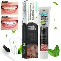 Activated Charcoal Teeth Whitening Toothpaste Natural Black Mint Flavor Herbal D