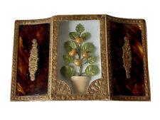 Boîte à Dragées Confiserie en Carton & Papier Décor Arbre Fruitier Début XIXème