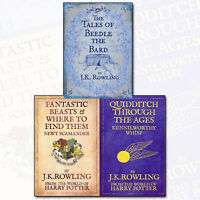 J. K. Rowling Collection 3 Books Set Fantastic Beasts and Where to Find New