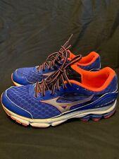 Women's Mizuno Wave Inspire 12 Running Shoes Sneakers Sz 11 Blue/Bright Orange