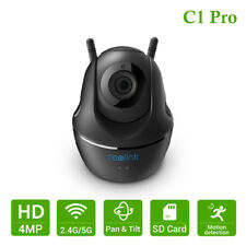 Reolink Wireless WiFi Security Camera 1440P Baby Monitor Pan Tilt Video C1 Pro