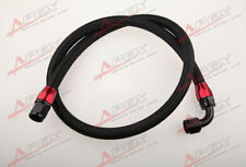"""24"""" 90°10AN Nylon Braided Racing Performance Oil Fuel Coolant Line Hose Assembly"""