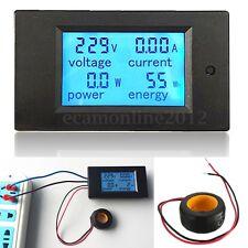 100A AC LED Power Panel Monitor Medidor Potencia Energía Voltímetro Amperímetro