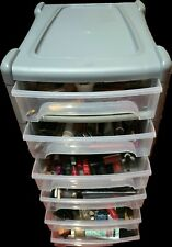 NEW 6 DRAWER MAKEUP ORGANISER CABINET STORAGE MAKE UP TIDY PULL OUT SET