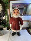 Vintage 1976 RARE Christmas Blow Mold Santa  Figure Statue +Clothes Gorgeous