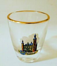 Venlo, Netherlands Gold Rimmed Souvenir Collectable Shot Glass 2 inches