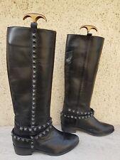 bottes noires tout cuir pointure 36 marque ZARA occasion bon etat general