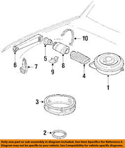 GM OEM Air Cleaner Intake-Air Cleaner Seal 10191430