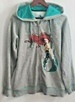 Disney 2013 ART OF ARIEL Hoodie SZ XL Little Mermaid Full Zip Jacket D23