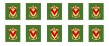 5 PR MODEL BUS WATERSLIDE TRANSFERS 1/76th  COATS OF ARMS NEWPORT EARLY ON GREEN