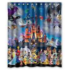 Stitch Mickey Movie Collection Polyester Waterproof Bath Shower Curtain 60 x 72