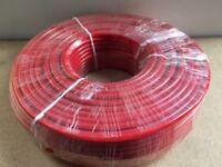 100m rotes Koaxkabel Grundpreis 1,50 €/m - optisch passend zum ELAD FDM-DUO RED