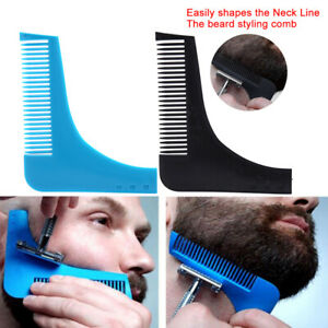 Men Trimmer Beard Shaping Comb Trim Styling Template Molding Perfect Lines Tool