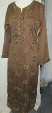 paty collection gold embroider new design  shifon matrial pant kameez SizeL42