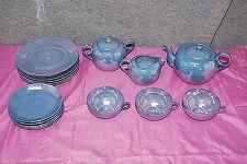 RARE Shofu Made in Japan Blue Lusterware Tea Set 17 Pieces  M3970