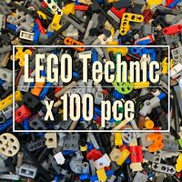Lego Technic x 100pce - Mixed Pins Friction Ridges Pegs Connectors Axles Bushes