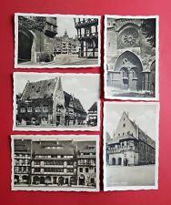 5 x Foto AK HALBERSTADT um 1935 Fischmarkt, Rathaus, Büttner Haus, Dom ( 39681
