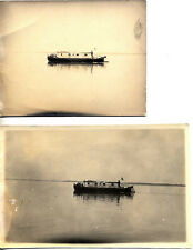 SET OF TWO PHOTOS OF ITALIAN RED CROSS BOAT ON THE WATER