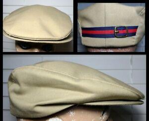 Vtg Country Gentleman Beige Newsboy Cabbie Gatsby Peaky Blinders Cap Sz 7 1/4