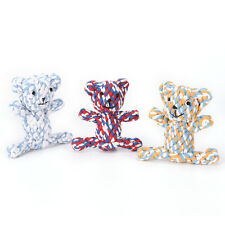 1pc x pet dog durable bear knot for small and large dogs trainging chew toys JX