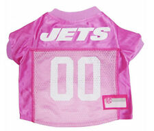 NFL New York Jets Pet Wear Team Jersey Pink Dog Costume Poodle Terrier XS