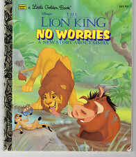 Little Golden Books -The Lion King: No Worries A New Story(Pink Back Variety) VG