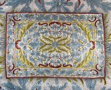 Très beau Tapis en Soie motif floral coloris bleu dominant - TS10