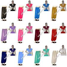 Harem Pant Ruffle Top Choli Belly Dance Yoga Pantaloons Trousers Boho Chiffon
