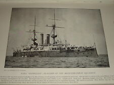 1896 HMS RAMILLIES FLAGSHIP MEDITERRANEAN SQUADRON