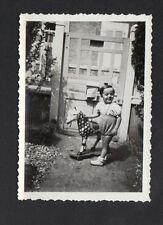 ENFANT & JOUET CHEVAL à Roulettes / Photo Amateur ancienne