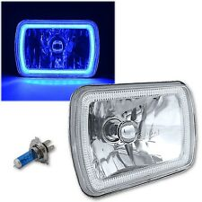 "(1) 7X6"" Plasma Blue COB LED Glass/Metal Headlight Halogen Light Bulb Headlamp"