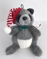 "Vintage 1998 Commonwealth Plush Christmas Raccoon Stuffed Animal Toy 10"""