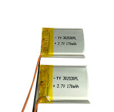 302530 170MAH 3.7V Rechargeable Li-ion Battery For Bluetooth MP3/4/5 Instrument