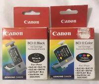 Canon BCI-11 Black & Tri-Color Ink Cartridge Combo BJC-50 Genuine New Sealed Box