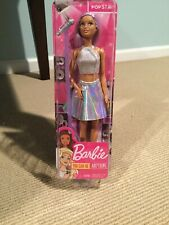 NIB BARBIE You Can Be Anything POP STAR Doll and Microphone FAST SHIP