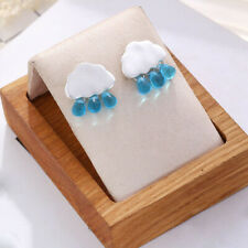 Women Acrylic Jewelry Ear Stud b Fashion Earrings Pendant Cute Rain Drop Cloud