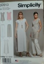 Simplicity S0913 Misses Tunic W/ Length Variations and Pull on Pants 14-22 UNCUT