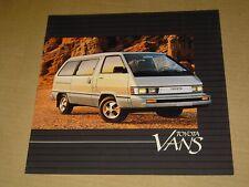 1984 TOYOTA VANS BROCHURE NICE! 12 PAGES