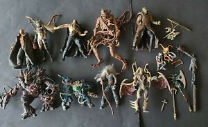Lot of 11 Vintage Spawn Todd McFarlane Action Figures extras & weapons