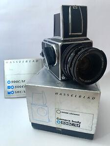 Hasselblad 500 CM + Planar 80 CF + Original BOX + Property Card + Instructions