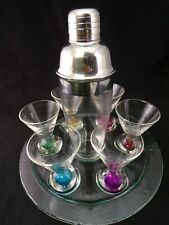 Circleware Bonfire Hand Made 8 Piece Vodka Shaker Shooter Multi Color Set