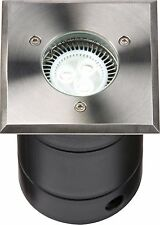 Knightsbridge GU10 Modern Outdoor Garden Sqaure Recessed Decking Light Lamp IP67