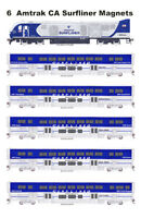 Amtrak California Surfliner Set of 6 magnets Andy Fletcher