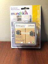 Munchkin Xtraguard Dual Action Multiuse Latch - 2 Pack