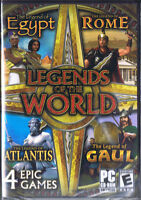Legends of the World 4-Pack (PC, 2012, Awem, SEALED NEW)