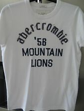 BOYS ABERCROMBIE AND FITCH TSHIRT TOP WHITE LARGE A&F AMERICAN