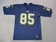 Reebok Antonio Gates San Diego Chargers Football Jersey Adult Large Blue Mens *